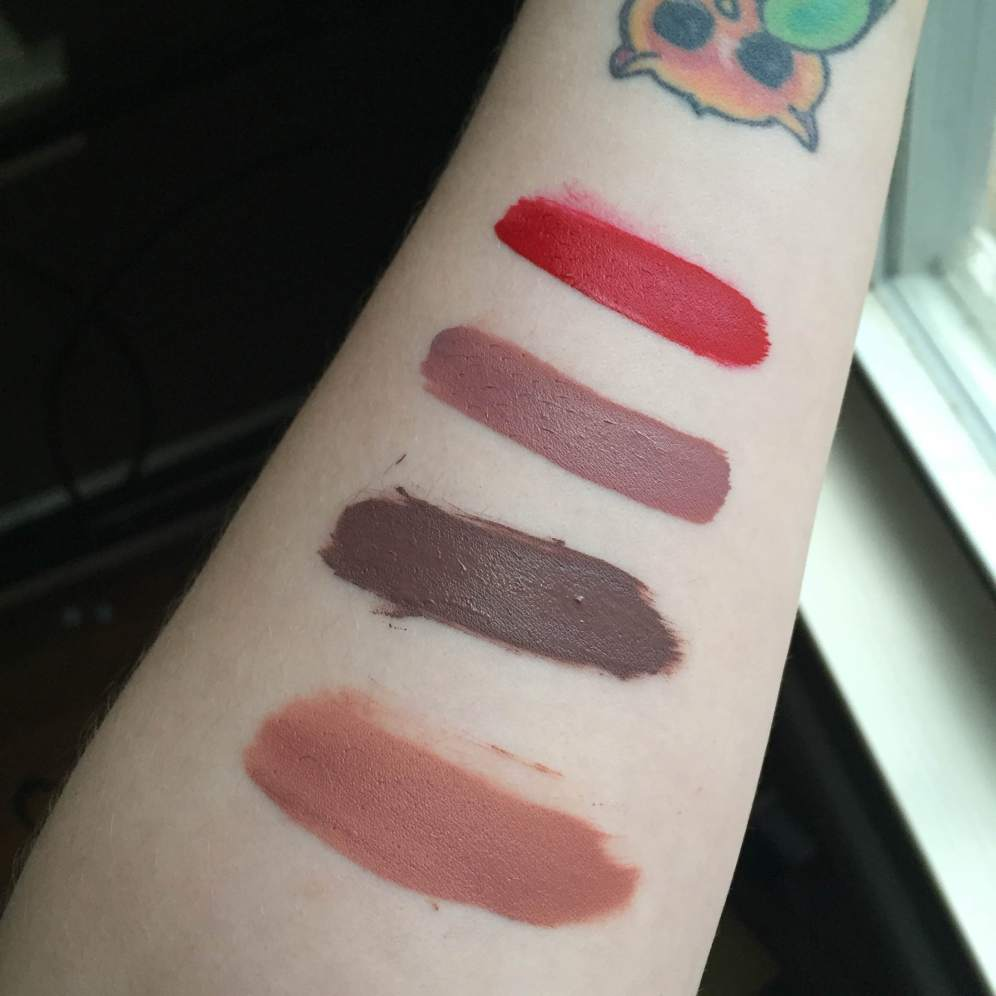 Top to bottom: Creeper, Trap, Kapow (all ultra-matte) and magic wand (ultra-satin finish)